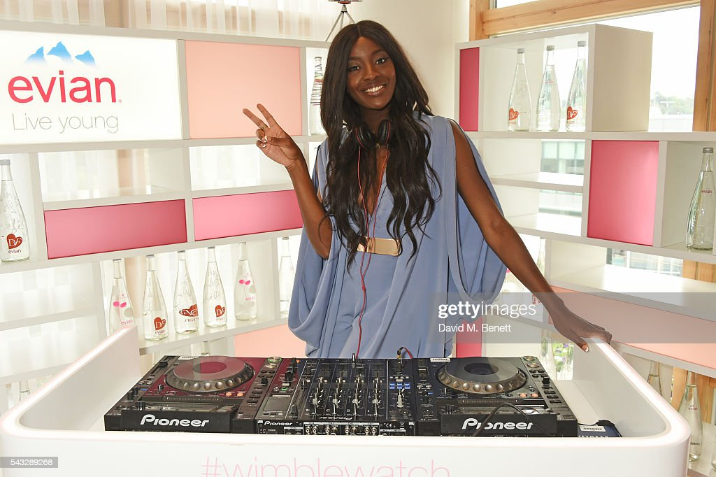 AJ Odudu attends the evian Live Young suite during Wimbledon 2016 at the All England Tennis and Croquet Club on June 27, 2016 in London, England.