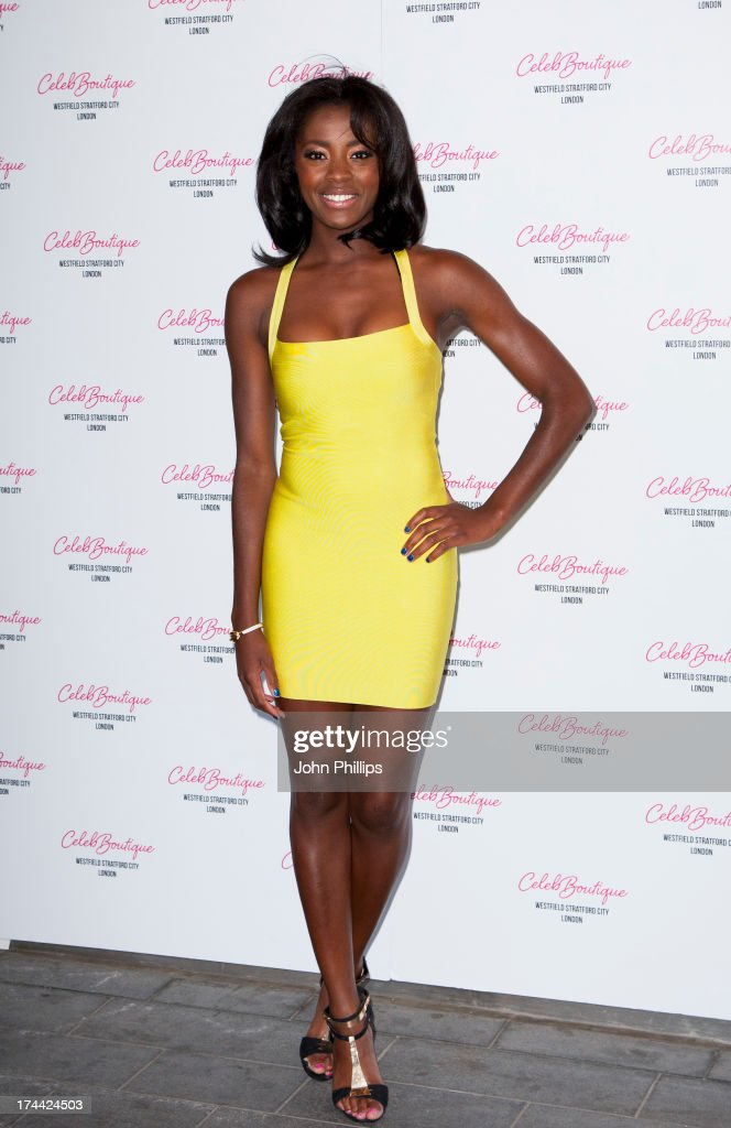 AJ Odudu attends the store launch party at CelebBoutique, Westfield Stratford City on July 25, 2013 in London, England.