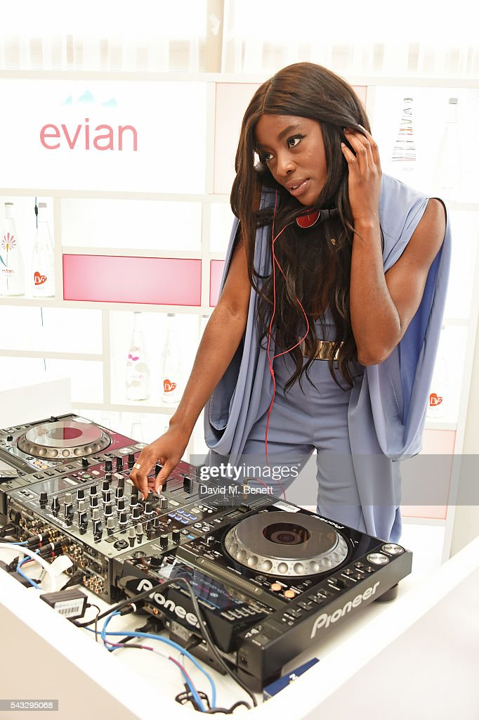 AJ Odudu DJs at the evian Live Young suite during Wimbledon 2016 at the All England Tennis and Croquet Club on June 27, 2016 in London, England.