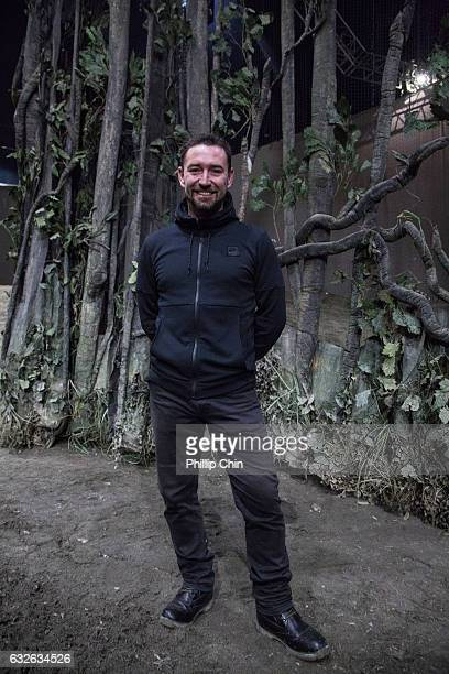 Odysseo's resident artistic director Darren Charles poses at the Cavalia big white top in Olympic Village on January 24 2017 in Vancouver Canada