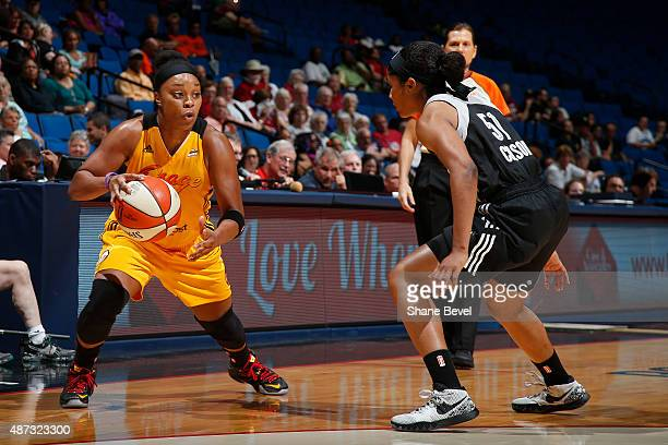 Odyssey Sims of the Tulsa Shock dribbles the ball against the San Antonio Stars on September 8 2015 at the BOK Center in Tulsa Oklahoma NOTE TO USER...