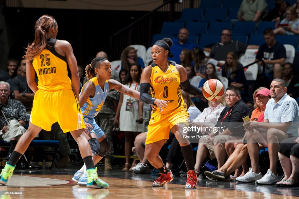 <a gi-track='captionPersonalityLinkClicked' href=/galleries/search?phrase=Odyssey+Sims&family=editorial&specificpeople=7412276 ng-click='$event.stopPropagation()'>Odyssey Sims</a> #0 of the Tulsa Shock drives against the Chicago Sky on July 27, 2014 at the BOK Center in Tulsa, Oklahoma.