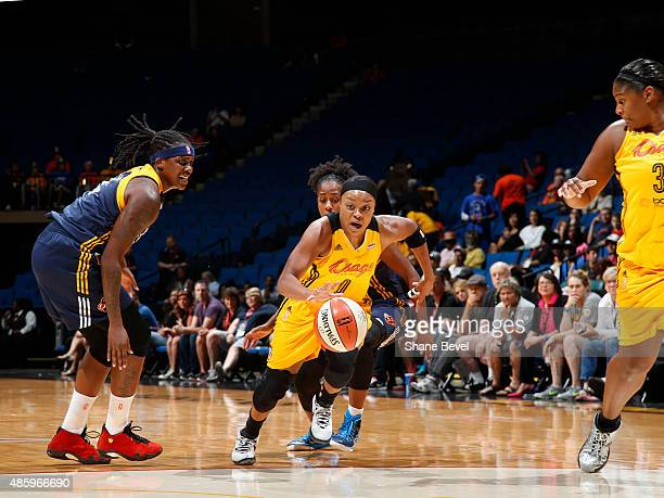 Odyssey Sims of the Tulsa Shock drives to the basket against the Indiana Fever on August 30 2015 at the BOK Center in Tulsa Oklahoma NOTE TO USER...