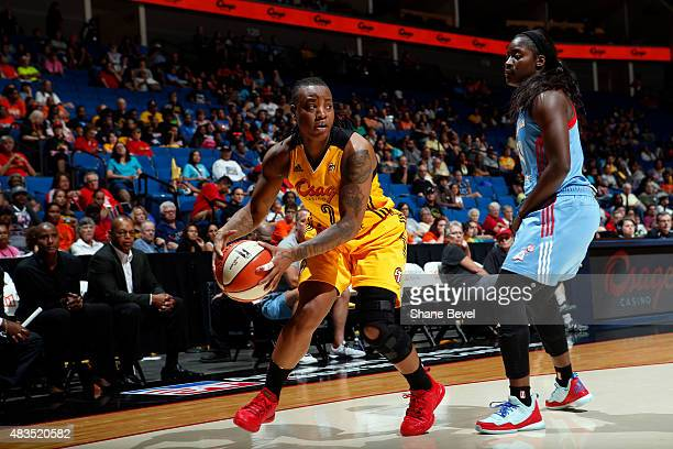 Odyssey Sims of the Tulsa Shock handles the ball against the Atlanta Dream on August 9 2015 at the BOK Center in Tulsa Oklahoma NOTE TO USER User...