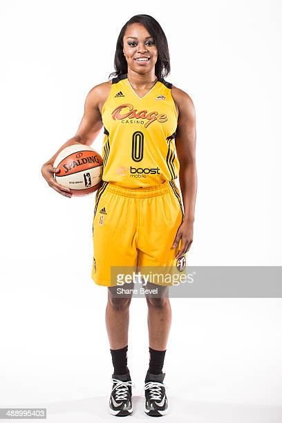 Odyssey Sims of the Tulsa Shock poses for a portrait during the Tulsa Shock WNBA Media Day on May 8 2014 at the BOK Center in Tulsa Oklahoma NOTE TO...