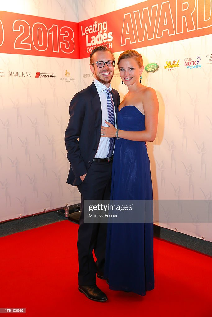 oe24 manager Niki Fellner with company attend the Leading Ladies Awards 2013 at Belvedere Palace on September 3, 2013 in Vienna, Austria.