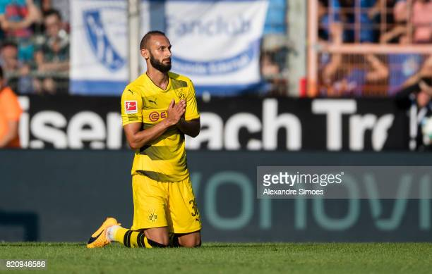 Oemer Toprak of Borussia Dortmund during the preseason friendly match between VfL Bochum and Borussia Dortmund at Rewirpower Stadium on July 22 2017...