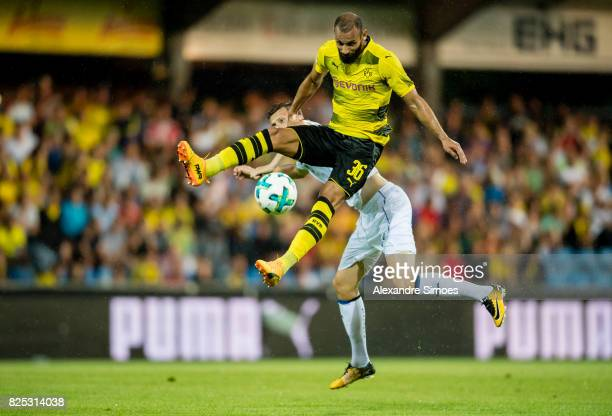 Oemer Toprak of Borussia Dortmund in action during a friendly match between Borussia Dortmund and Atalanta Bergamo as part of the training camp on...