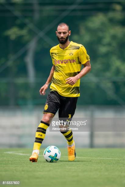 Oemer Toprak of Borussia Dortmund in action during a training session on July 16 2017 in Tokyo Japan