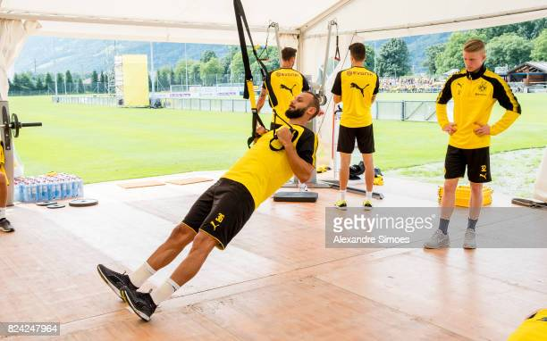 Oemer Toprak of Borussia Dortmund in action during a training session as part of the training camp on July 29 2017 in Bad Ragaz Switzerland
