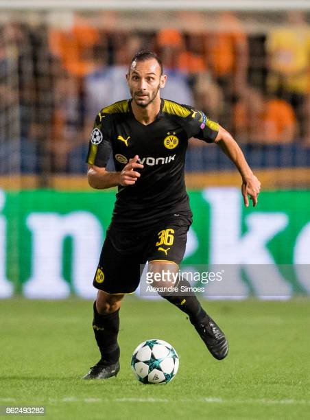 Oemer Toprak of Borussia Dortmund in action during the UEFA Champions League group H match between APOEL Nikosia and Borussia Dortmund at GSP Stadium...