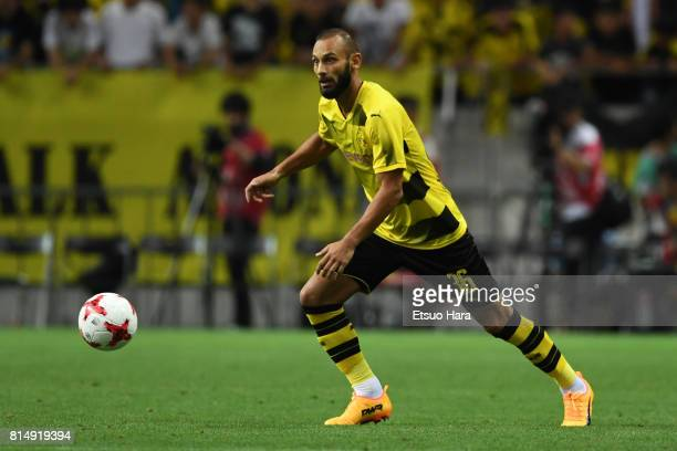 Oemer Toprak of Burussia Dortmund in action during the preseason friendly match between Urawa Red Diamonds and Borussia Dortmund at Saitama Stadium...