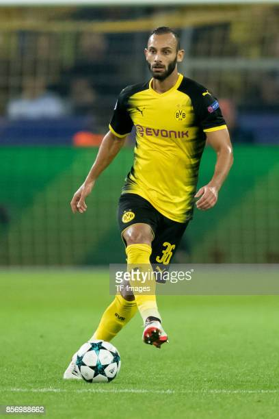 Oemer Toprak of Dortmund controls the ball during the UEFA Champions League group H match between Borussia Dortmund and Real Madrid at Signal Iduna...