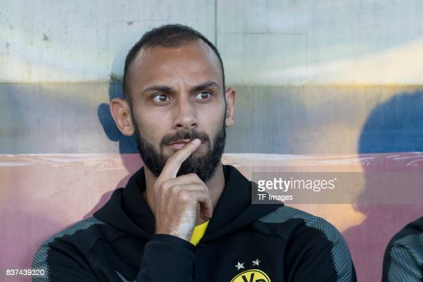 Oemer Toprak of Dortmund looks on during a friendly match between Espanyol Barcelona and Borussia Dortmund as part of the training camp on July 28...