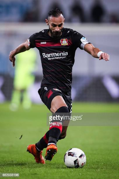 Oemer Toprak of Leverkusen controls the ball during the Bundesliga match between Bayer 04 Leverkusen and Werder Bremen at BayArena on March 10 2017...