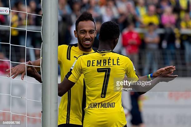 OerErkenschwick Germany Testspiel Spvgg Erkenschwick BV Borussia Dortmund BVB PierreEmerick Aubameyang und Ousmane Dembele jubeln nach dem treffer...