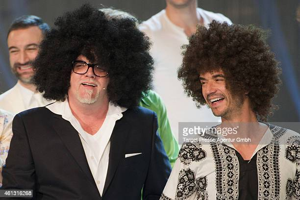 Oetzi and Florian Silbereisen attend the 'Das grosse Fest der Besten' tv show at Velodrom on January 10 2015 in Berlin Germany