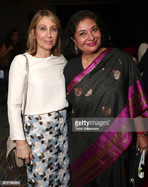 CEO of 20th Century Fox Stacey Snider and HFPA President Meher Tatna attend the Hollywood Foreign Press Association's Grants Banquet at the Beverly...