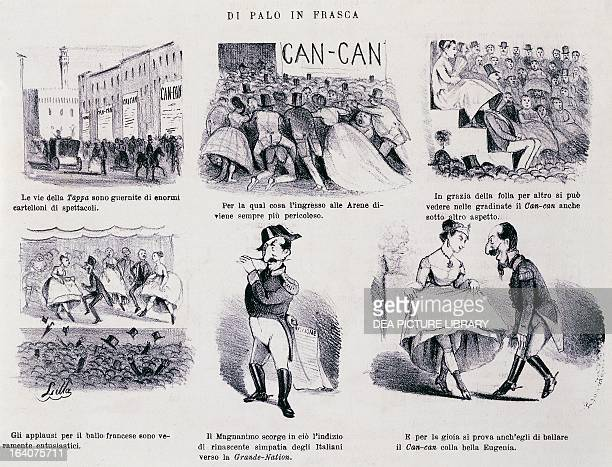 Of a tangent a series of satirical cartoons dedicated to Napoleon III Italy 19th century