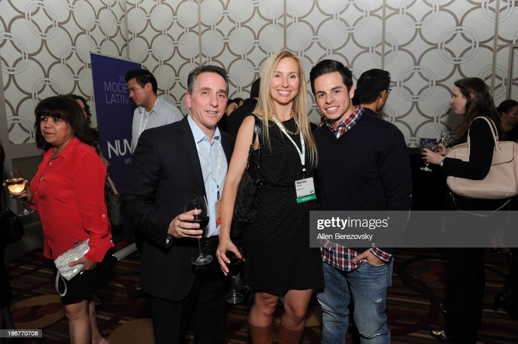 SVP of ad sales and marketing Craig Geller, Marissa Gomez of Mattel, Inc. and dancer Beau 'Casper' Smart attend the ANA Multicultural Cocktail Reception sponsored by NUVOtv at JW Marriott Los Angeles at L.A. LIVE on November 3, 2013 in Los Angeles, California.