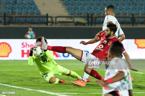 of AlAhly in action during the third round of the Egyptian Premier League between Al Ahly and Al Raja at AlSalam Stadium in Cairo Egypt on 16 October...
