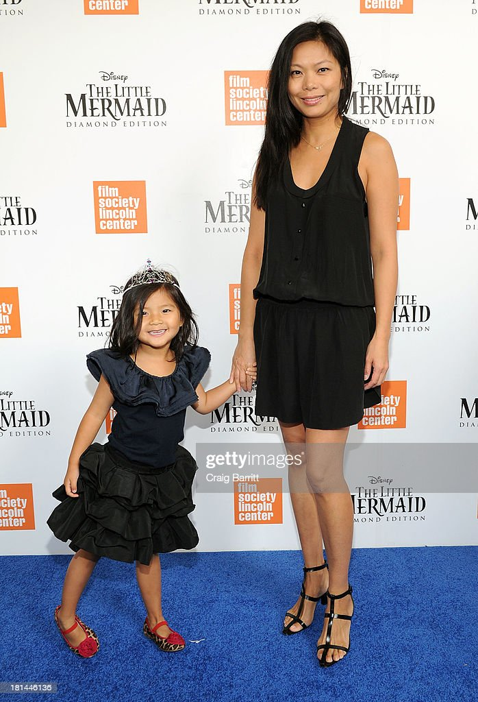 CEO of Alexander Wang, Aimie Wang (R) and Alia Wang attend Disney's The Little Mermaid special screening at Walter Reade Theater on September 21, 2013 in New York City.