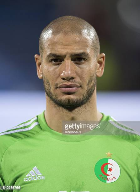 GUEDIOURA of Algeria during the Group B match between Senegal and Algeria at Stade Franceville on January 23 2017 in Franceville Gabon