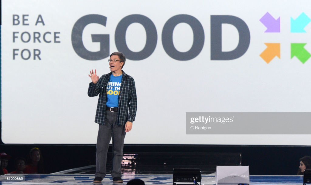 CEO of Allstate Thomas J. Wilson speaks onstage during the 1st Annual 'We Day' California at ORACLE Arena on March 26, 2014 in Oakland, California.