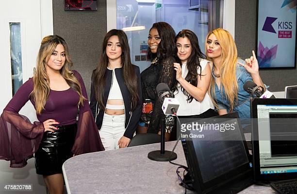 of Ally Brooke Hernandez Camila Cabello Normani Kordei Lauren Jauregui and Dina Jane Hansen of 'Fifth Harmony' visit The KISS FM Breakfast show with...