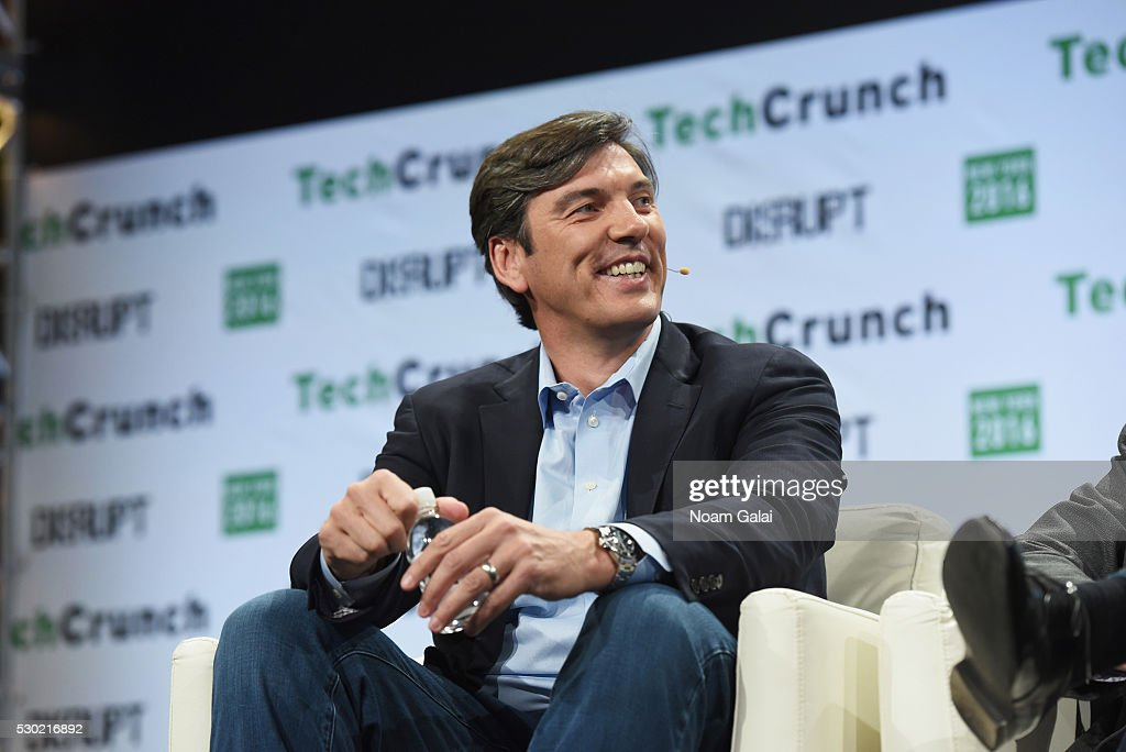 CEO of AOL Tim Armstrong speaks onstage during TechCrunch Disrupt NY 2016 at Brooklyn Cruise Terminal on May 10 2016 in New York City