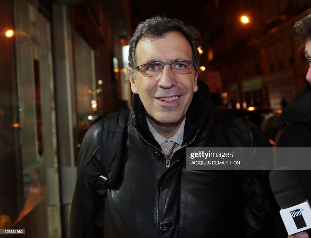 CEO of ArcelorMittal for France Atlantique and Lorraine production centers, Henri-Pierre Orsoni, leaves, on December 13, 2012, in Paris, after an extraordinary CCE (Group Central Committee). French President Francois Hollande said last week he would personally guarantee that giant steel multinational ArcelorMittal stood by a commitment to keep jobs at a plant threatened with closure as angry trade unionists threatened strike action.