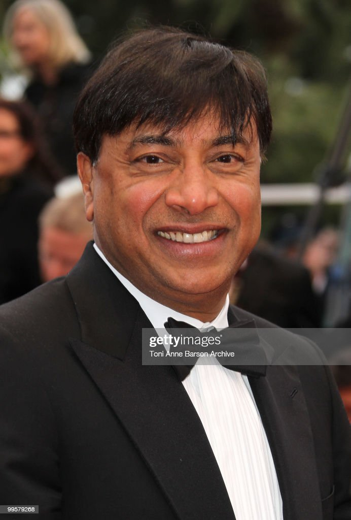 CEO of ArcelorMittal Lakshmi Mittal attends the 'You Will Meet A Tall Dark Stranger' Premiere held at the Palais des Festivals during the 63rd Annual...
