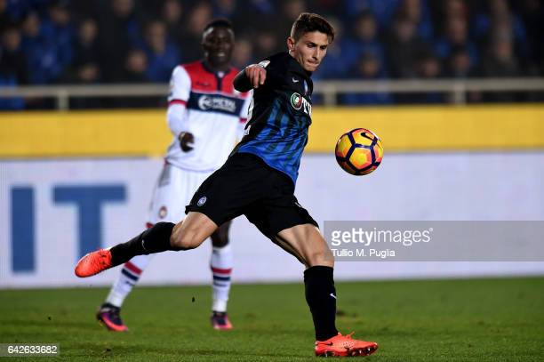 of Atalanta in action during the Serie A match between Atalanta BC and FC Crotone at Stadio Atleti Azzurri d'Italia on February 18 2017 in Bergamo...