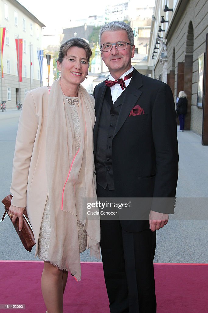 CEO of Audi Rupert Stadler and his wife Angelika Stadler attend the opening of the easter festival 2014 (Osterfestspiele) on April 12, 2014 in Salzburg, Austria.