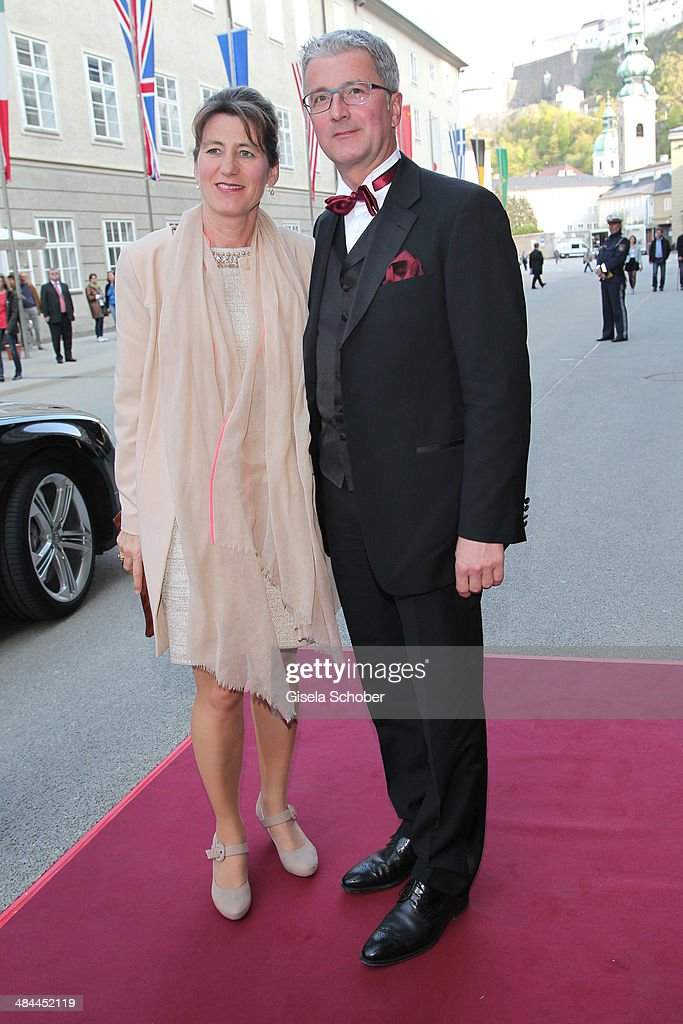 CEO of Audi <a gi-track='captionPersonalityLinkClicked' href=/galleries/search?phrase=Rupert+Stadler&family=editorial&specificpeople=870122 ng-click='$event.stopPropagation()'>Rupert Stadler</a> and his wife Angelika Stadler attend the opening of the easter festival 2014 (Osterfestspiele) on April 12, 2014 in Salzburg, Austria.