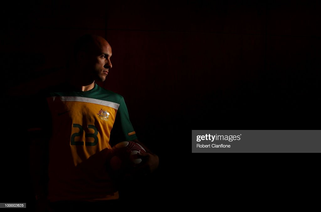 of Australia poses for a portrait during an Australian Socceroos portrait session at Park Hyatt Hotel on May 19, 2010 in Melbourne, Australia.
