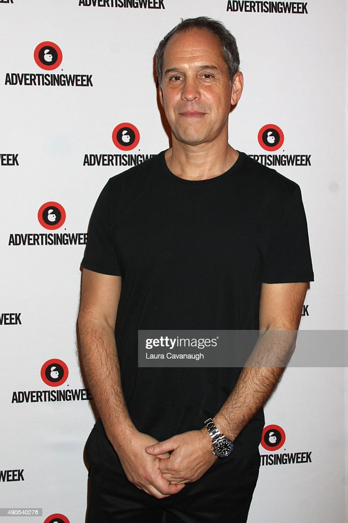 CEO of AwesomenessTV Brian Robbins poses at the Reinventing Social Entertainment panel during Advertising Week 2015 AWXII at the Times Center Stage...