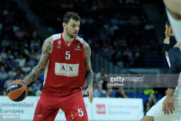 MICOV of AX Armani Exchange Olimpia Milan during the 2017/2018 Turkish Airlines Euroleague Regular Season Round 3 game between Real Madrid v AX...
