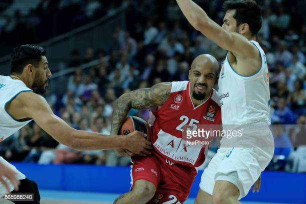 THEODORE of AX Armani Exchange Olimpia Milan during the 2017/2018 Turkish Airlines Euroleague Regular Season Round 3 game between Real Madrid v AX...
