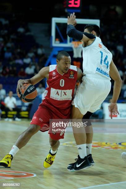 GOUDELOCK of AX Armani Exchange Olimpia Milan during the 2017/2018 Turkish Airlines Euroleague Regular Season Round 3 game between Real Madrid v AX...