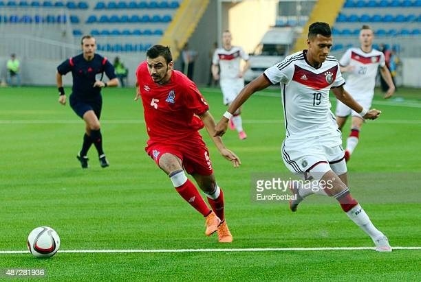 BADALOV of Azerbaijan and DAVIE SELKE of Germany in action during the 2017 UEFA European U21 Championships Qualifier at Dalga Stadium on September 8...