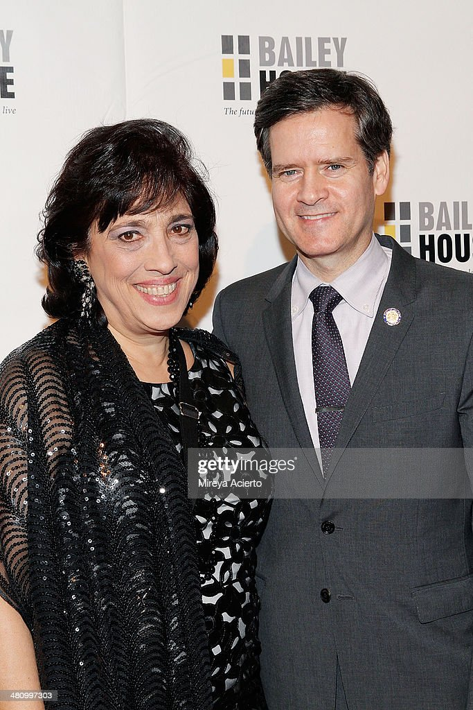 CEO of Bailey House Gina Quattrochi and Senator Brad Hoylman attend Bailey House's 2014 Gala & Auction at Pier 60 on March 27, 2014 in New York City.
