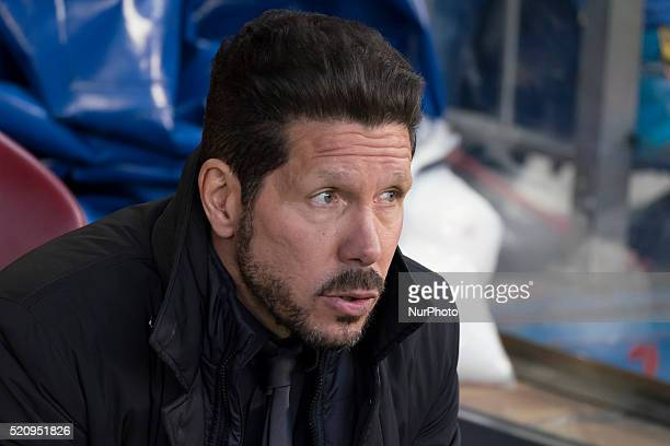 of Barcelona during the UEFA Champions League quarter final second leg match between Club Atletico de Madrid and FC Barcelona at the Vincente...