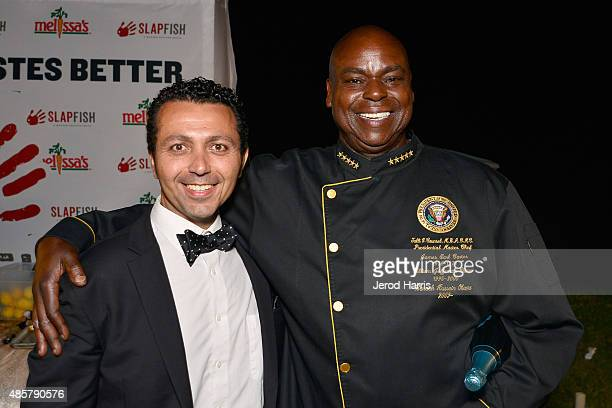 CEO of Barcelona Enterprises Alan Semsar and Certified Master Chef Talli V Counsel attend the St Regis Food Wine Jazz Festival at St Regis Monarch...