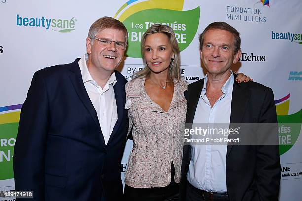 CEO of Beautysane Sylvain Bonnet with Cardiologist and bestselling author in the Wellness Doctor Frederic Saldmann and his wife Marie attend the...