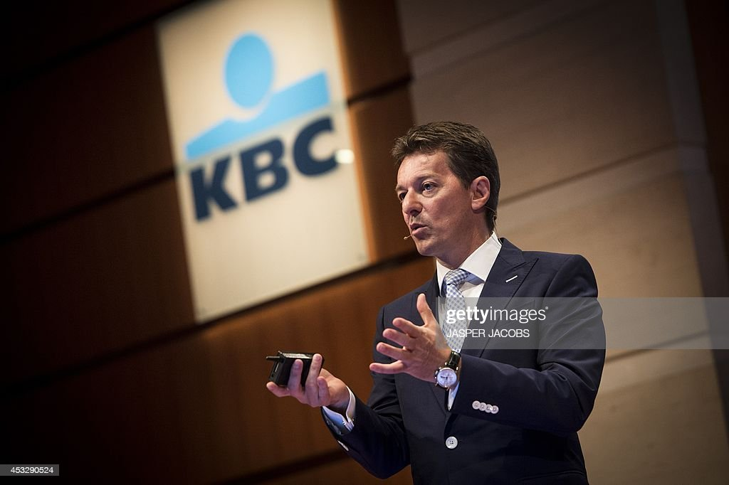 CEO of Belgian financial group KBC Johan Thijs gives a press conference to present the group's first semester results on August 7, 2014 at the KBC headquarters in Brussels. Belgian financial group KBC's profit fell by less than expected in the second quarter as higher net interest income and increased loans and deposits partly made up for a hit from a new law on retail loans in Hungary.