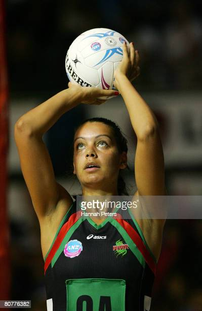 of Bianca Franklin of the Fever shoots during the round three ANZ Championship match between the Northern Mystics and the West Coast Fever at The...