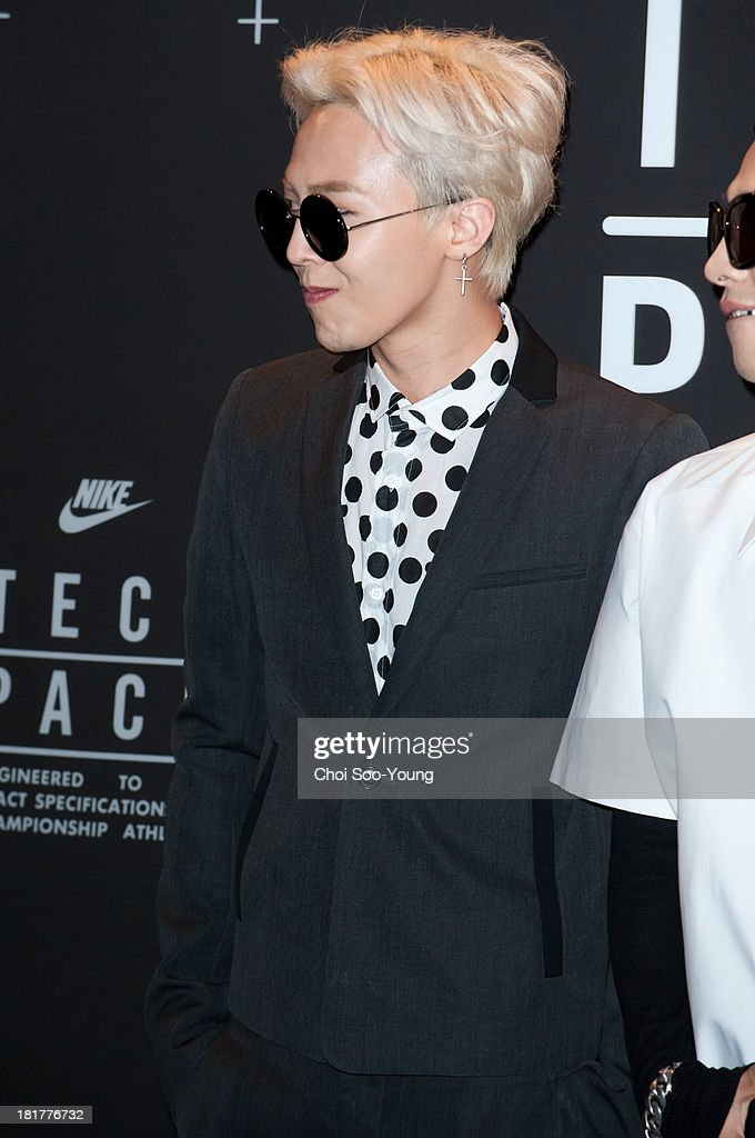 G.DRAGON of Bigbang attends the 'NIKE Tech Pack' showcase at the Shilla hotel on September 24, 2013 in Seoul, South Korea.