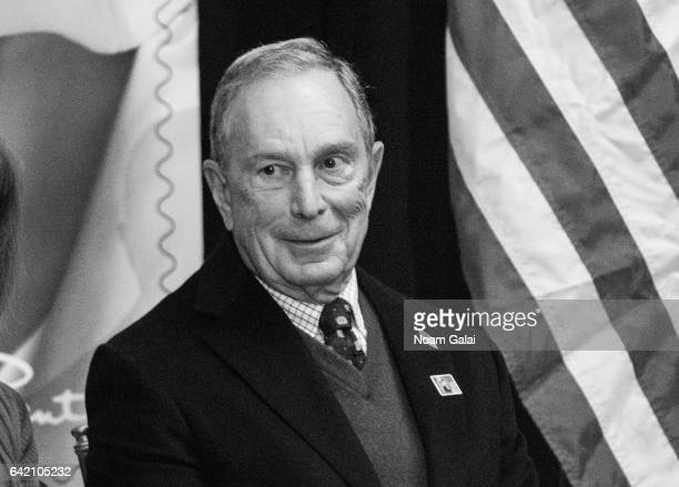 CEO of Bloomberg LP Michael Bloomberg attends the Oscar de la Renta Forever Stamp dedication ceremony at Grand Central Terminal on February 16 2017...