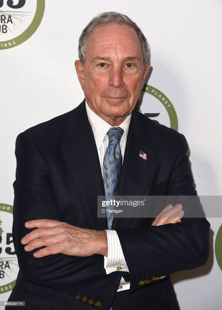 CEO of Bloomberg L.P., Michael Bloomberg attends the Sierra Club's 125th Anniversary Trail Blazer's Ball at Innovation Hangar on May 18, 2017 in San Francisco, California.